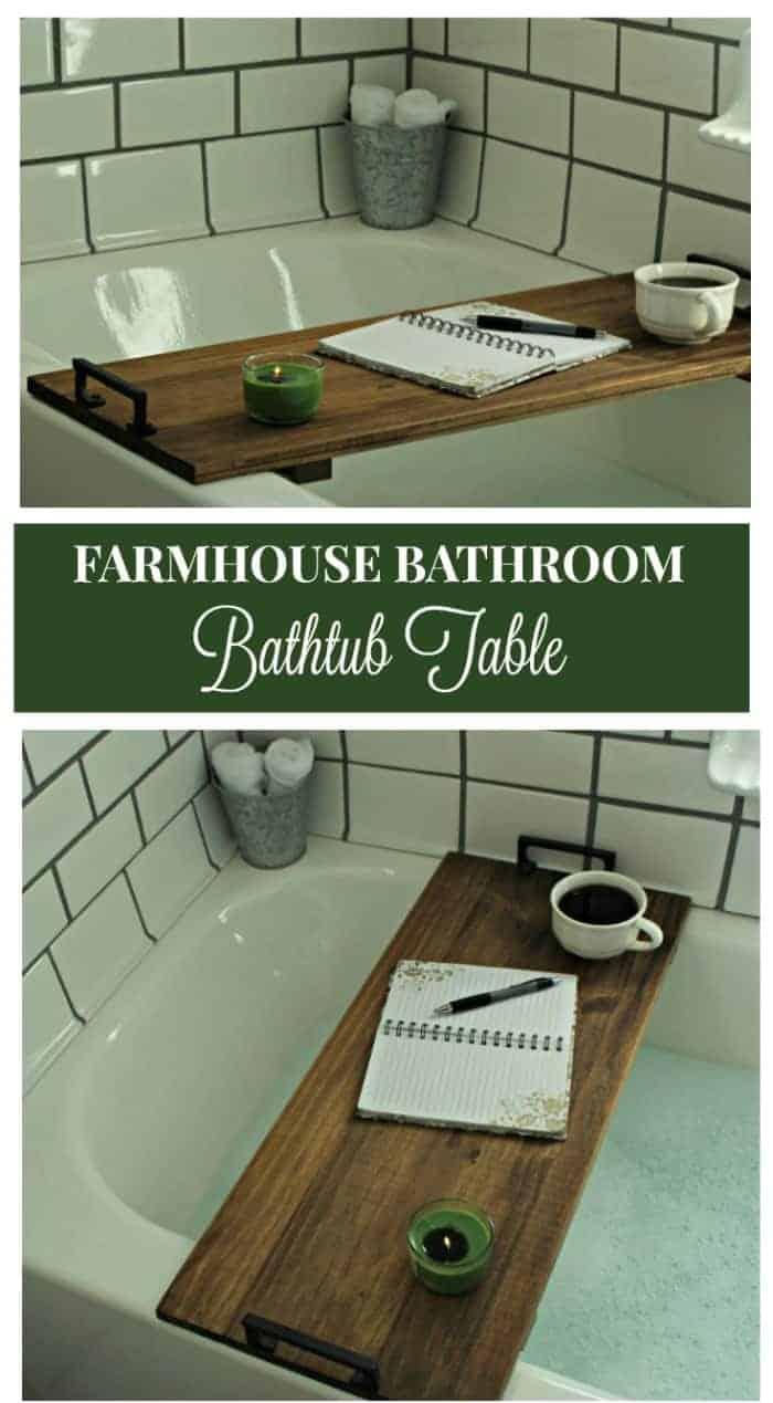 Farmhouse DIY Bath Caddy