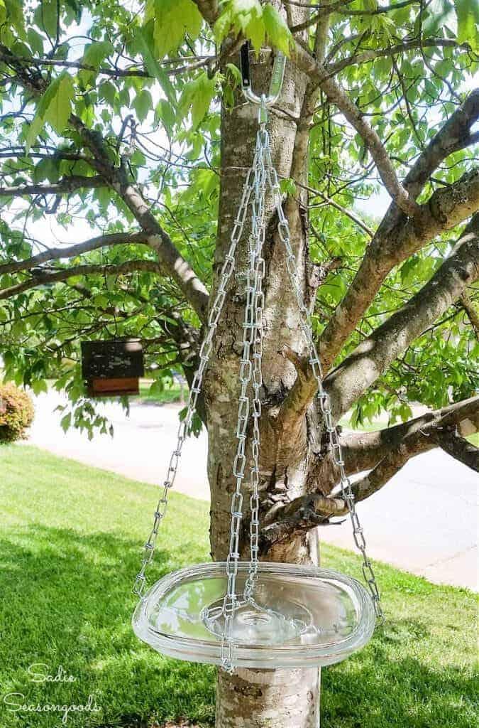 Hanging DIY Bird Bath