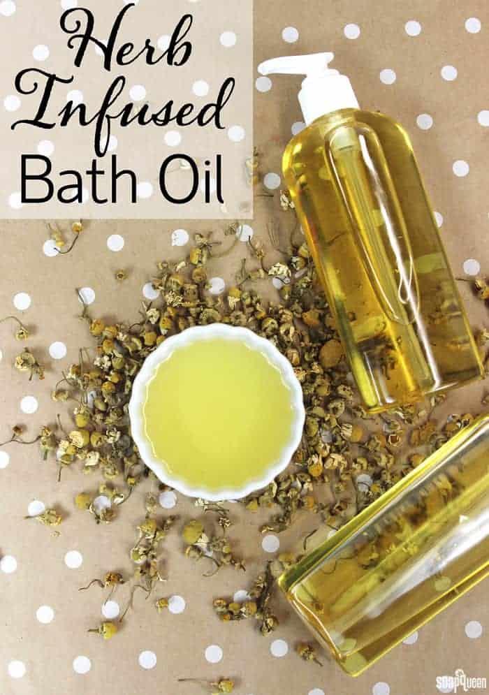 Herb-Infused Bath Oil