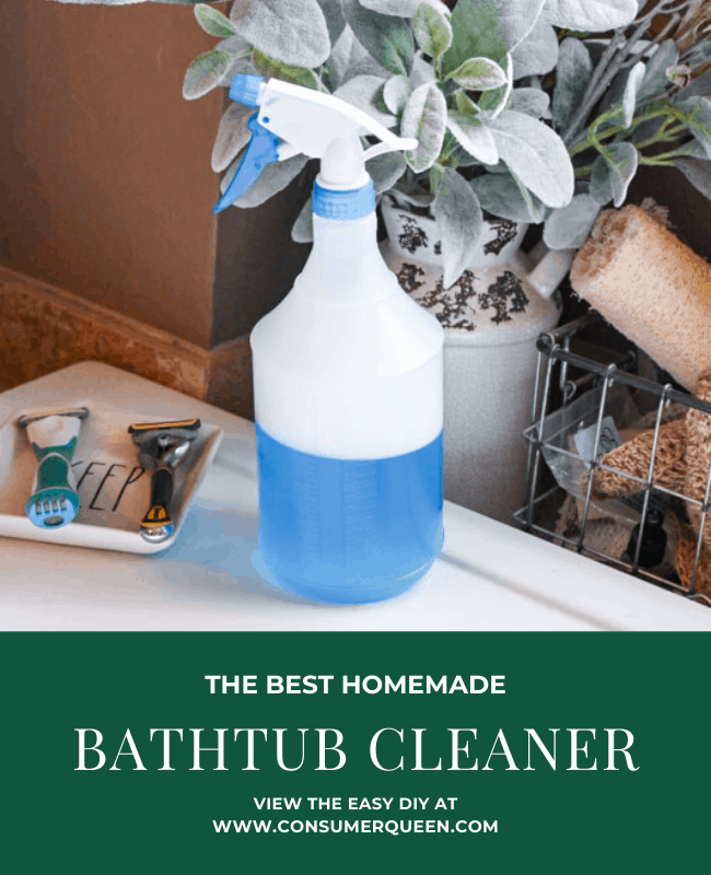 Homemade Bathtub Cleaner with 2 Simple Ingredients! – Consumerqueen.com