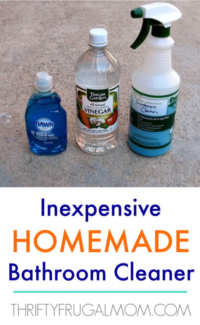 Inexpensive DIY Homemade Bathroom Cleaner – Thrifty Frugal Mom