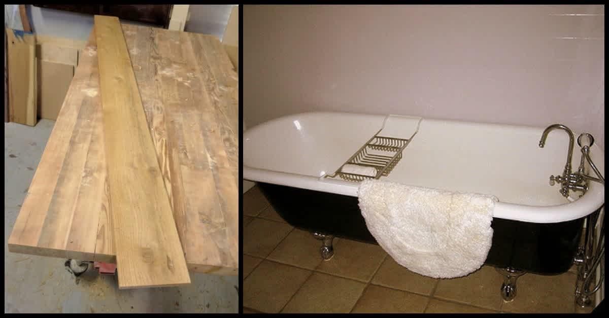 Simplest DIY Bath Tray