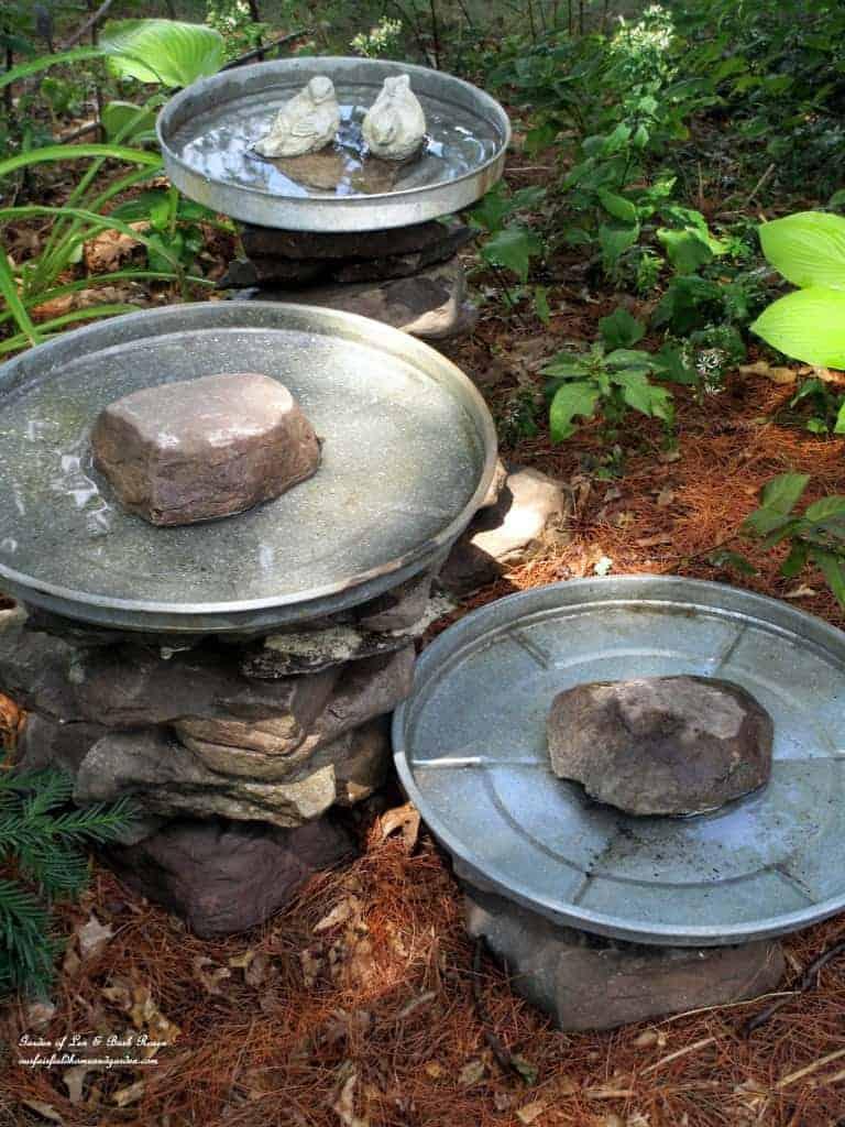Stone Stack DIY Bird Bath