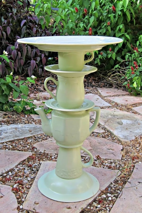 Teapot Bird Bath