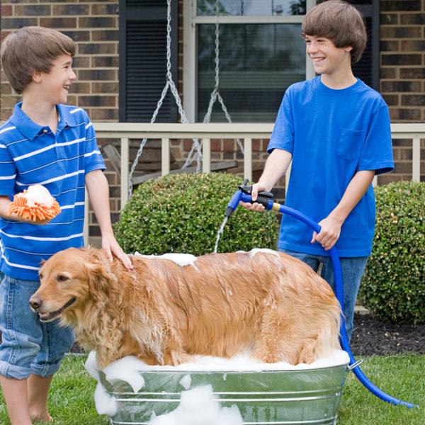 31 Homemade Dog Bath Tubs/Washing Station Ideas