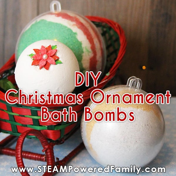 Christmas Ornament Bath Bomb Mold (DIY)