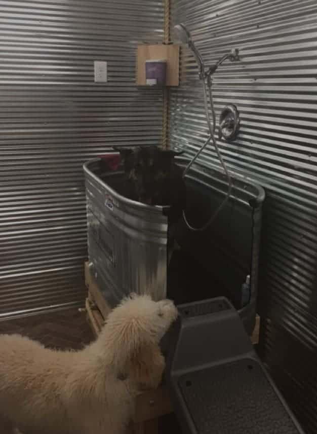 Corrugated DIY Dog Bath Tub