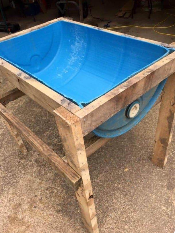 DIY Dog Barrel Bath Tub