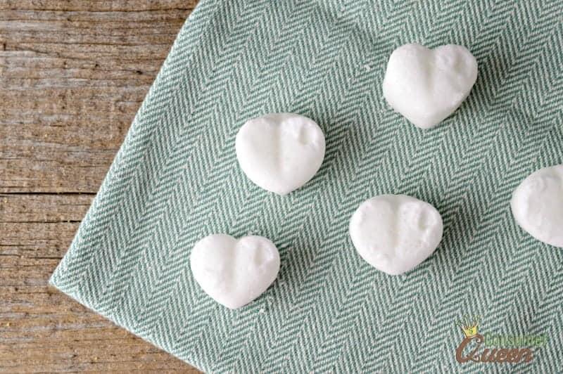 DIY Heart-Shaped Bath Fizzies