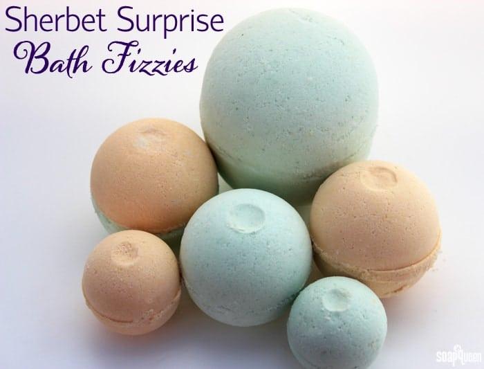 DIY Sherbet Surprise Bath Fizzies