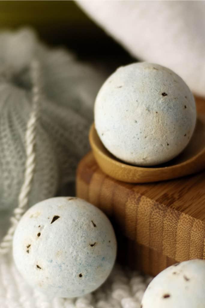 Lavender-Peach DIY Bath Fizzies