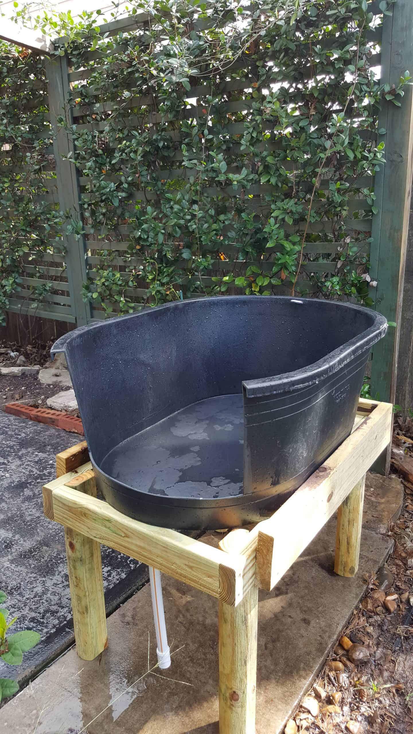 Outdoor DIY Dog Bath Tub