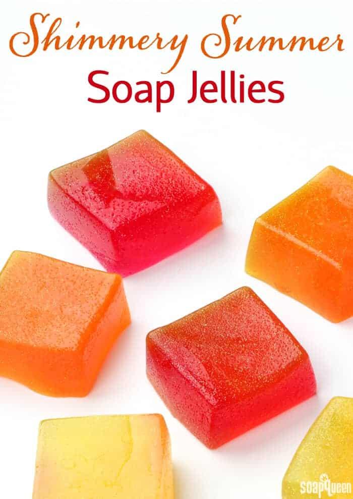 Shimmery Summer DIY Bath Jellies