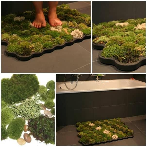 Wonderful DIY Moss Bath Mat