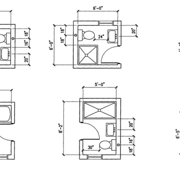 25 Small Bathroom Floor Plans
